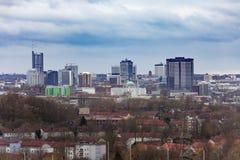 Arquitetura do centro da cidade de Essen NRW Alemanha fotografia de stock royalty free