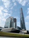 A arquitetura do centro de cidade Fotos de Stock