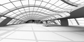 Arquitetura do corredor ilustração do vetor