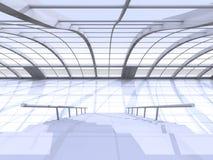 Arquitetura do corredor Fotografia de Stock Royalty Free