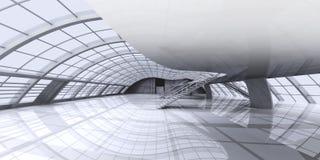 Arquitetura do corredor ilustração royalty free