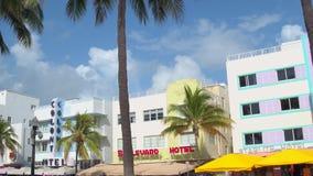 Arquitetura do deco de Miami Beach vídeos de arquivo