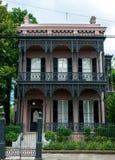 Arquitetura do distrito do jardim de Nova Orleães Fotografia de Stock