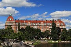 Arquitetura do início do século XX, Orebro, Suécia foto de stock royalty free