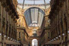 Arquitetura do interior de Vittorio Emanuele fotografia de stock royalty free