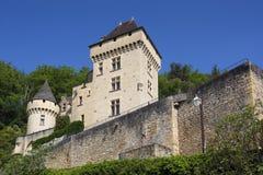 Arquitetura do La Roque-Gageac, Dordogne fotografia de stock
