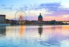 Arquitetura do marco de Toulouse, França imagem de stock