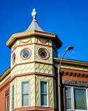 Arquitetura do octógono em Burlington do centro, Wisconsin fotos de stock royalty free