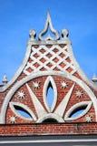 Arquitetura do parque de Tsaritsyno em Moscou Foto a cores Imagens de Stock