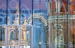 Arquitetura do parque de Tsaritsyno em Moscou reflexão Imagens de Stock Royalty Free
