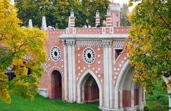 Arquitetura do parque de Tsaritsyno, Moscovo. Imagem de Stock Royalty Free
