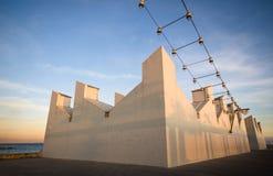 Arquitetura do porto de Barcelona imagem de stock royalty free