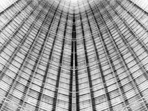 Arquitetura do telhado da estrutura do metal imagem de stock