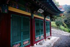 Arquitetura do templo de Yonggungsa Imagem de Stock