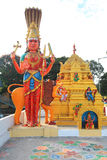Arquitetura do templo hindu em Bangalore, Índia foto de stock royalty free