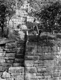 Arquitetura do vinhedo em Alemanha do sul em preto e branco fotos de stock royalty free