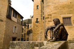Arquitetura e escultura de Sarlat fotos de stock