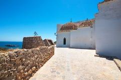 Arquitetura e mar Mediterrâneo de Ibiza Foto de Stock