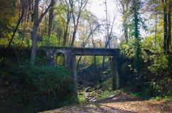 Arquitetura e natureza de Miskolc, Lillafured vermelho no outono fotografia de stock royalty free