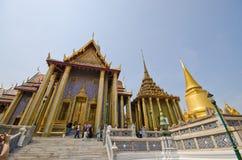 Arquitetura em Wat Phra Kaew, Banguecoque, TH. Foto de Stock