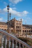 Arquitetura espanhola de Plaza de Espana em Sevilha Imagens de Stock Royalty Free