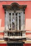 Arquitetura espanhola velha, Arequipa, Peru. fotos de stock royalty free