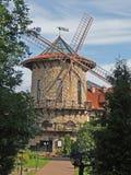 Arquitetura estilizado do moinho de vento da construção de pedra Fotografia de Stock Royalty Free