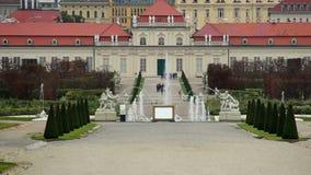 Arquitetura europeia do jardim barroco, atração turística Viena video estoque