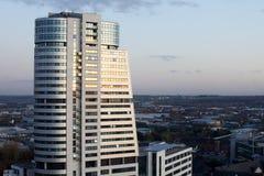 Arquitetura europeia do norte moderna da cidade imagens de stock royalty free