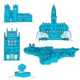 Arquitetura famosa de Porto Portgal ilustração do vetor