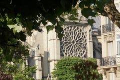 Arquitetura francesa - catedral Notre-Dame - Paris do distrito fotografia de stock royalty free