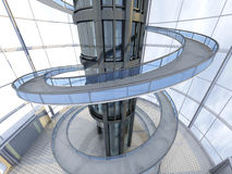 Arquitetura futurista Fotos de Stock Royalty Free