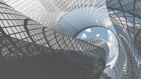 Arquitetura futurista Fotos de Stock