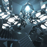Arquitetura futurista da escadaria com olho claro Imagem de Stock