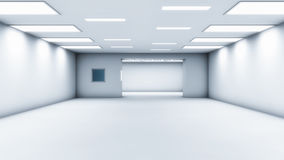 Arquitetura futurista do salão Imagens de Stock Royalty Free