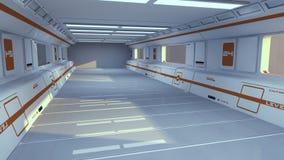 Arquitetura futurista do salão Foto de Stock