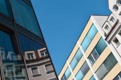 Arquitetura futurista urbana moderna Fotografia de Stock Royalty Free