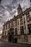 Arquitetura gótico tradicional de Bruges Fotos de Stock Royalty Free