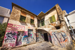 9 9 2016 - Arquitetura genérica na cidade velha de Rethymno Fotos de Stock Royalty Free