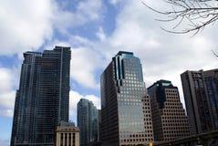 Arquitetura genérica, skyline, para baixo cidade, Toronto, Ontário, Canadá Fotografia de Stock