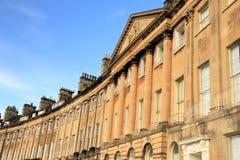 Arquitetura Georgian crescente de Camden, banho, Inglaterra, Reino Unido Imagens de Stock