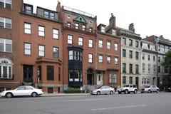 Arquitetura histórica Boston do brownstone fotografia de stock royalty free