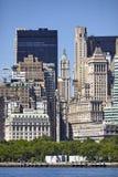 Arquitetura histórica e moderna de Manhattan, New York imagem de stock