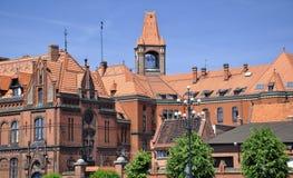 Arquitetura histórica em Bydgoszcz. Poland. fotos de stock royalty free