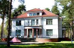 Arquitetura home moderna agradável fotos de stock royalty free