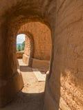 Arquitetura, igreja da missão do povoado indígeno dos Pecos Imagens de Stock