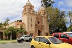 Arquitetura impressionante que apresenta a história do parque do balboa, San Diego, Califórnia, 2016 Fotos de Stock