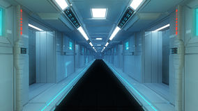 Arquitetura interior futurista Fotografia de Stock