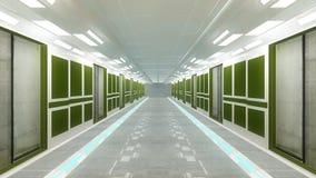 Arquitetura interior futurista Fotos de Stock Royalty Free