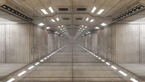 Arquitetura interior futurista Imagem de Stock Royalty Free